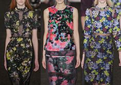 London Fashion Week – Autumn/Winter 2013 – Print & Pattern Highlights – Part 1 catwalks