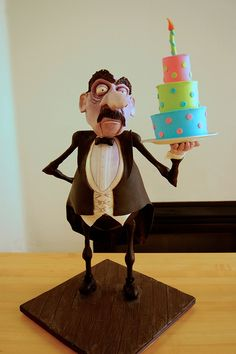 Higgins the Butler.  This is a CAKE (shocking) but I would like to see it in Fimo!