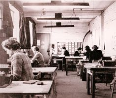 The Imitation Game: who were the real Bletchley Park codebreakers? - Nigel Farndale | Telegraph, 14 Nov 2014 | Decoder Wrens working in Huts 6 and 8 at Bletchley Park during the Second World War