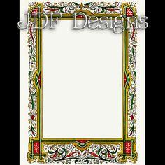 Instant Digital Download, Vintage Victorian Graphic, Christmas Ornate Frame Text Box, Invitation Printable Image, Scrapbook