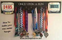 DIY medal and racing bib hanger