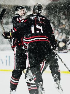 Patrick Sharp and Jonathan Toews, Chicago Blackhawks