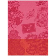 Le Jacquard Francais Marche Fleurs Peony Tea / Kitchen Towel 24 x 31 (inches) at Kitchen Universe. Le Jacquard Francais