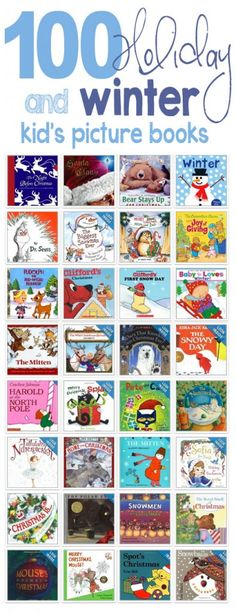 Great list of winter and holiday books for kids... *Reserving a bunch of these from the library Preschool Christmas, Preschool Books, Book Activities, Winter Activities, Christmas Books For Kids, Preschool Ideas, Preschool Winter, Toddler Activities, Kindergarten Classroom