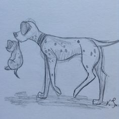 Sketch of 101 dalmations from Disney. By Yenthe J.