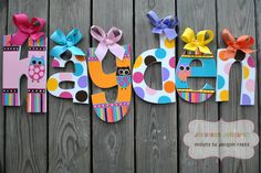 Handpainted and Personalized Letters  by TheJellyBeanJunction, $19.99