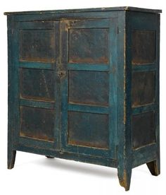 Antique Primitive Furniture U0026 Utility · Pennsylvania Painted Pine And  Poplar Pie Safe, 19th C., With Punched Tin Heart