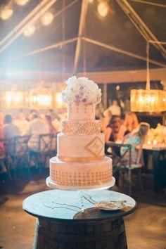 Emily Maynard's wedding cake: http://www.stylemepretty.com/2014/09/22/emily-maynards-surprise-wedding-to-tyler-johnson/ | Photography: Corbin Gurkin - http://corbingurkin.com/