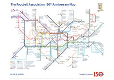 The Football Association 150th anniversary map