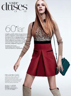 awesome Vogue Turkey August 2014 | Luisa Bianchin by Ümit Savaci  [Editorial]
