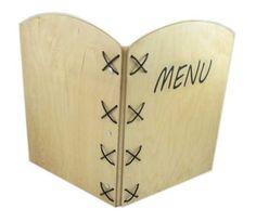 Holz Menu A4-Sperrholz/1 Paper Shopping Bag, Bags, Home Decor, Menu Cards, Ply Wood, Handarbeit, Handbags, Taschen, Interior Design