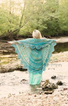 Stevie Nicks Bohemian Gypsy Circle Vest - Crochet creation by ClarissaDove