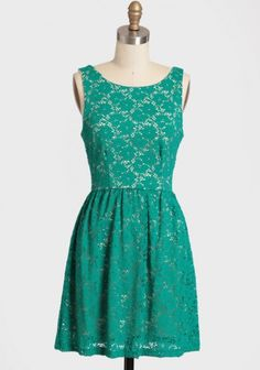 Evening Sun Green Lace Dress 45.99 at shopruche.com.