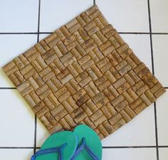 How to Make a Bathmat from Corks: 6 steps (with pictures)
