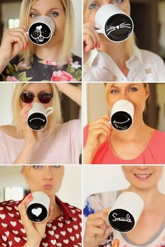 DIY Mood Mugs - how clever!