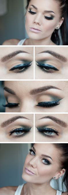 Love the metallic blue eye liner <3 - Linda Hallberg