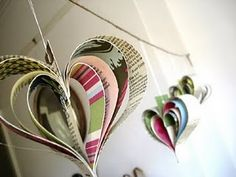 paper hearts decoration