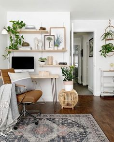 Cozy Office Corner | ZZ Plant Care Guide | www.thatplantylife.com