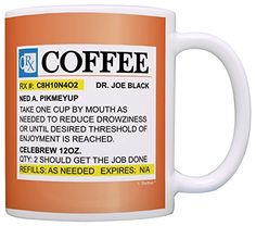 Amazon.com: Coffee Lovers Gifts Prescription Coffee RX Pill Bottle Pharmacist Gift Coffee Mug Tea Cup Orange: Home & Kitchen