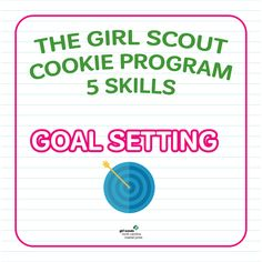 It's more than what is in the box. The Girl Scout Cookie Program helps girls to build 5 key skills, including goal setting! Girl Scouts set goals for their sales and proceeds and plan out ways to make them happen each cookie season!