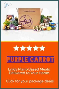 Purple Carrot is a plant-based meal service that makes it easy to cook new and inspiring vegan meals. They bring plant-based eating into the mainstream, ultimately improving health, the environment, and animal welfare. A meal subscription box is a great idea for busy individuals who want your meals planned out and prepped for you. All you have to do is heat and eat! Vegan Meal Plans, Vegan Meals, Vegan Recipes Easy, How To Plant Carrots, Meal Service, Vegan Books, Happy Vegan, Vegan Gifts, Exotic Food