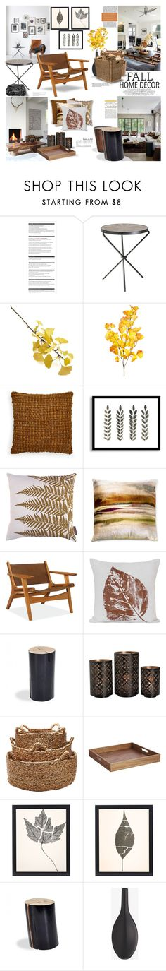 """""""Fall Home Decor"""" by margaretferreira ❤ liked on Polyvore featuring interior, interiors, interior design, home, home decor, interior decorating, Arche, Crate and Barrel, West Elm and Clarissa Hulse"""