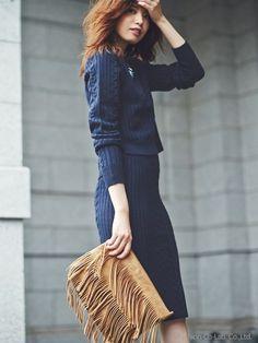 ネイビーで女らしさがあってキュート♡セットアップのコレクション、スタイル・ファッション・コーデアイデア☆