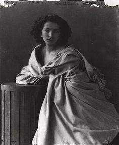 Sarah Bernhardt, 1865 Photographs of the famous by Felix Nadar | The Public Domain Review