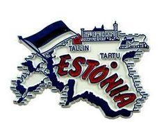 MGI Companies, Inc. - Estonia - International Country Shaped Map Magnets, $2.89 (http://www.internationalgiftitems.com/estonia-magnetic-map)