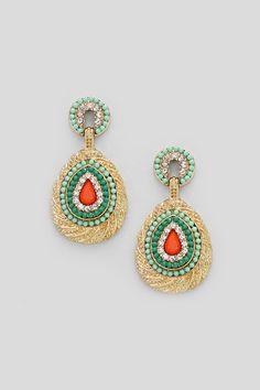 Brielle Earrings in Mint on Emma Stine Limited