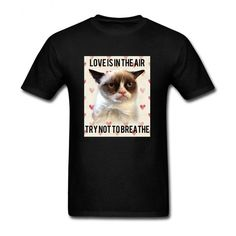 Mens Grumpy Cat Love is in the Air T-shirts