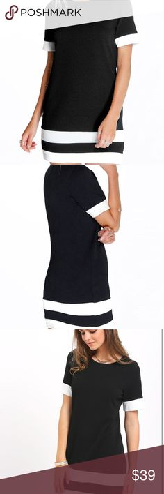🎉Brand New🎉 Black and White Shift Dress-NWOT 🎉Brand New🎉 Black and White Shift Dress-never worn Dresses Mini