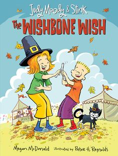 Ms. Yingling Reads: The Wishbone Wish. This was a very fun early reader book which will be popular with my struggling 6th grader readers who still like Judy and Stink in all of their various incarnations. The fully color illustrations add a festive air to the book, and I loved the community involvement in the Turkey Trot.