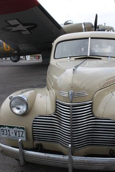 WWII  era Chevy and military plane