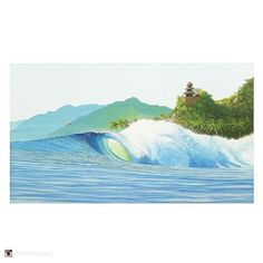 "Sign it tonight and varnish tomorrow. ""Wave painting 1375 x acrylics on canvas. by chris_neilson_art_ Great Paintings, Original Paintings, Original Artwork, Surf Art, Realism Art, Surreal Art, Figure Painting, Portrait Art, Figurative Art"