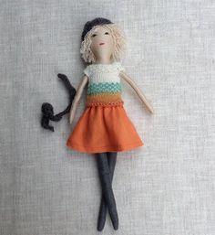 Fabric dollDress up doll Handmade cloth doll doll set by Dollisimo