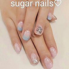#프렌치네일 #네일아트디자인 #네일아트잘하는곳 #넬스타그램 #슈가네일 #koreanail #강남네일샵 #naillove #sugar #Nail #nailart #다이아네일아트