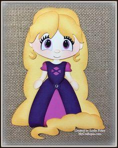 Disney princesa Rapunzel Premade Scrapbooking por MyCraftopia