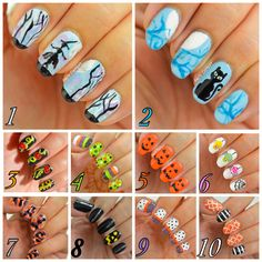A lot of #Halloween nail idea to choose from - Nails Context