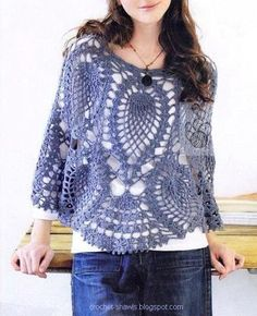 crochet women's poncho pattern | Crochet Poncho Patterns