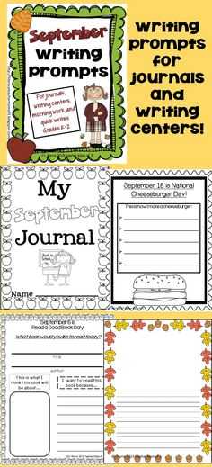 Little writers will keep their skills sharp with this *Bundle* of writing prompts for August, September, and October. Use in your classroom, intervention groups, homeschool, or when tutoring,