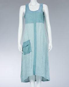 Animale ladies long dress striped motif and plain - Turquoise #WomenDress #Dress #SummerDress #Animale #WomenWear #WomenFashion #MotifDress #LightDress #SummerDress