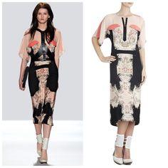 """NEW BCBGMAXAZRIA RUNWAY THE""""DEVON""""DRESS S MWI6W992 $548 BLACK COMBO #BCBGMAXAZRIARUNWAY #Cocktail"""