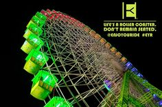 ENJOYOURIDE   Life's a roller coaster. Don't remain seated. @ENJOYOURIDE #EYR www.looseleafbrands.com