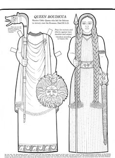 Mostly Paper Dolls: Queen Boudicca Paper Doll
