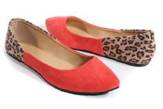 Coral and leopard flats