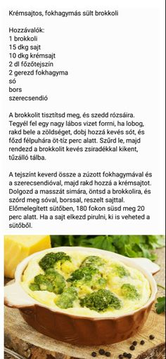 Krémsajtos, fokhagymás sült brokkoli Clean Recipes, Diet Recipes, Vegetarian Recipes, Healthy Recipes, Clean Eating, Healthy Eating, Good Food, Yummy Food, Hungarian Recipes