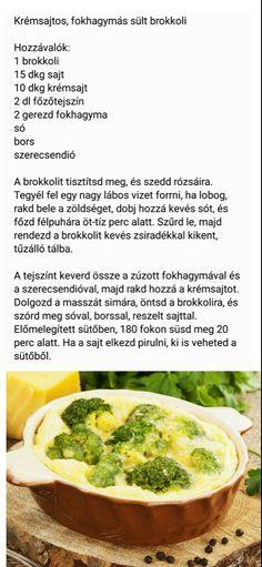 Krémsajtos, fokhagymás sült brokkoli
