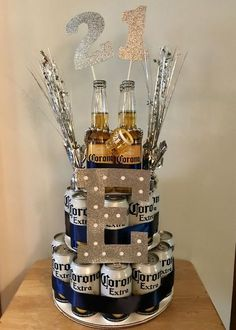 Corona Birthday Beer Cake - - Corona Birthday Beer Cake Boyfriend or girlfriend ❤️ Corona Geburtstag Bierkuchen Boyfriends 21st Birthday, Birthday Gifts For Boyfriend Diy, Creative Birthday Gifts, Diy Birthday, Birthday Beer, Cake Birthday, Boys 21st Birthday, Cake For Boyfriend, Boyfriend Gifts