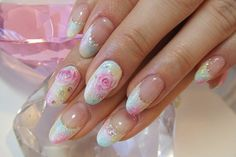 "french roses..prettiest nails i have ever seen..i don't ""do"" nails..but i sure would LOVE these!"